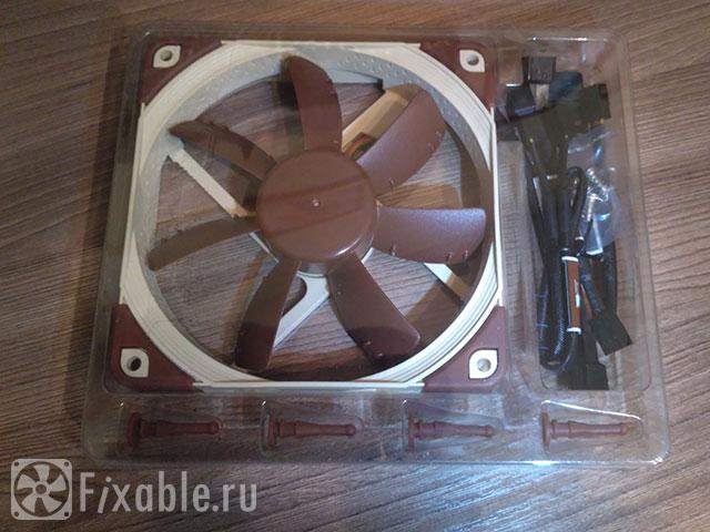 Распаковка бесшумного корпусного вентилятора