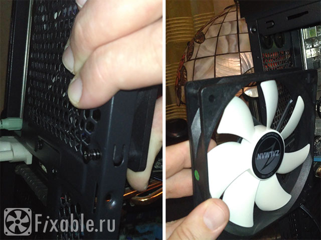 Демонтируем вентилятор