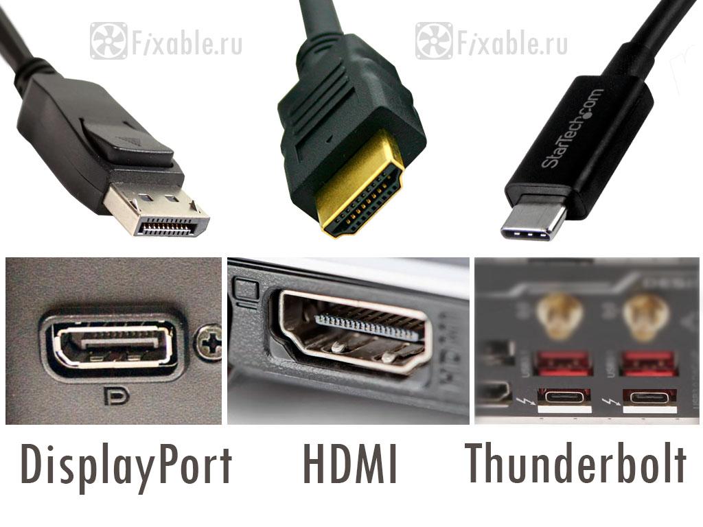 Видео разъемы – DisplayPort, HDMI и Thunderbolt