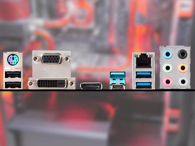Задняя панель системной платы MSI Z390-A Pro