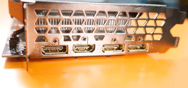 Задняя панель видеокарты Gigabyte GTX 1660