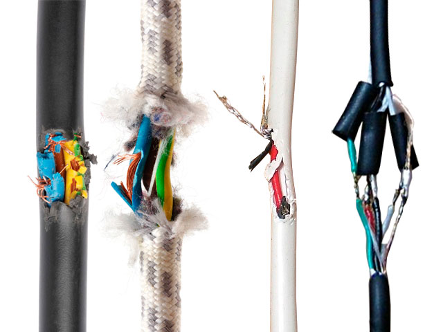 Поврежденные кабели