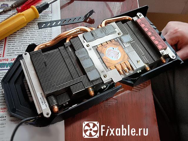 Система охлаждения видеокарты RX 580
