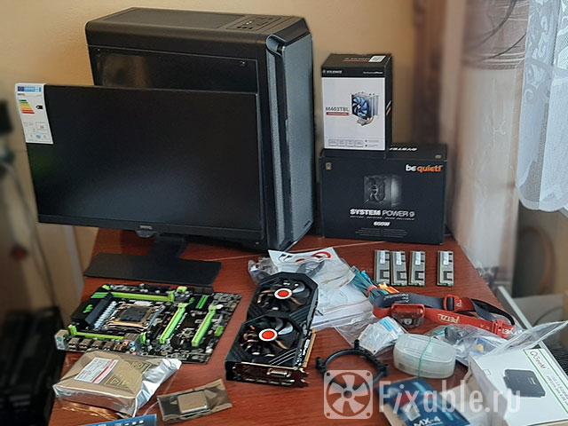 Монитор корпус, видеокарта и память