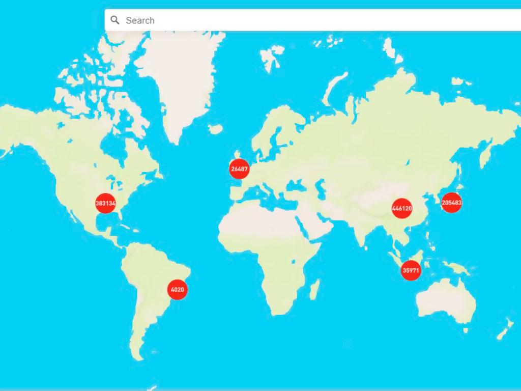 Карта покрытия программы Boingo Wi-Fi