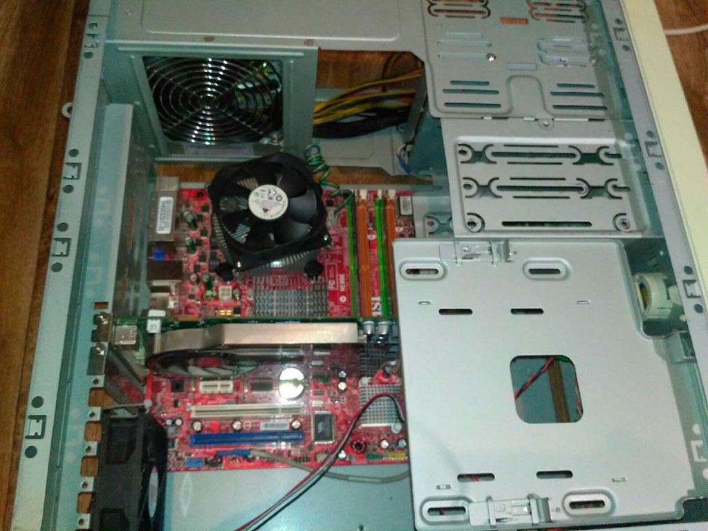 Компьютер на 775 сокете в старинном корпусе