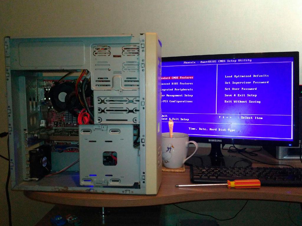 BIOS запустился